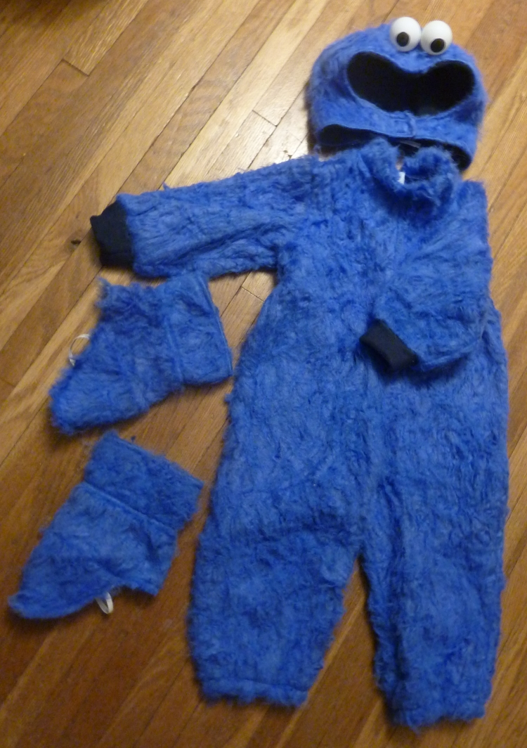 Finished Cookie Monster Costume & Homemade Cookie Monster Costume Part Deux | VisibleBlue